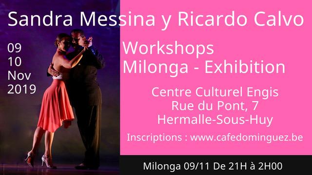 Stage Sandra Messina y Ricardo Calvo 9 et 10 Novembre 2019